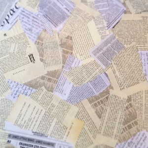 Greek text collage