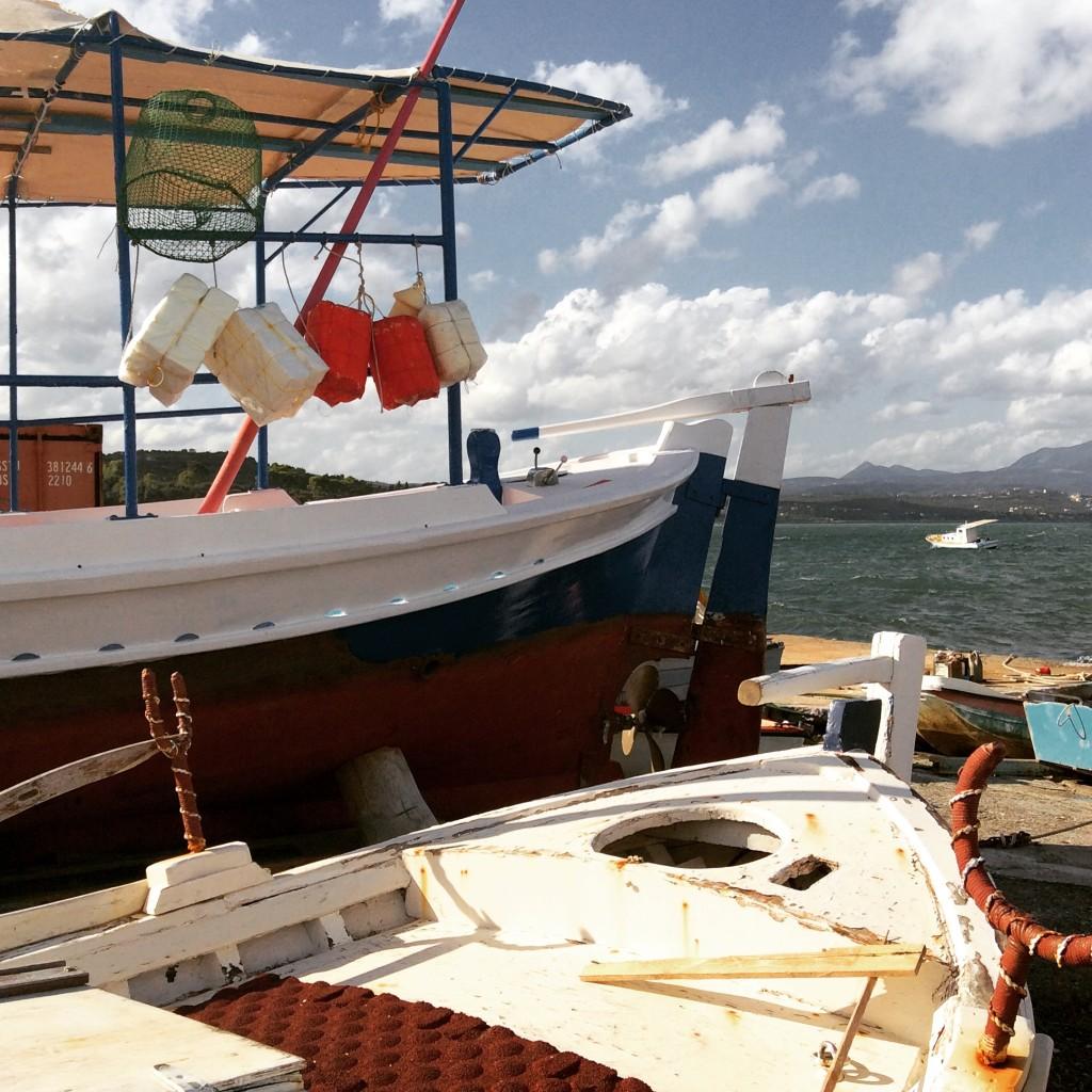 Koroni fishing boats greece