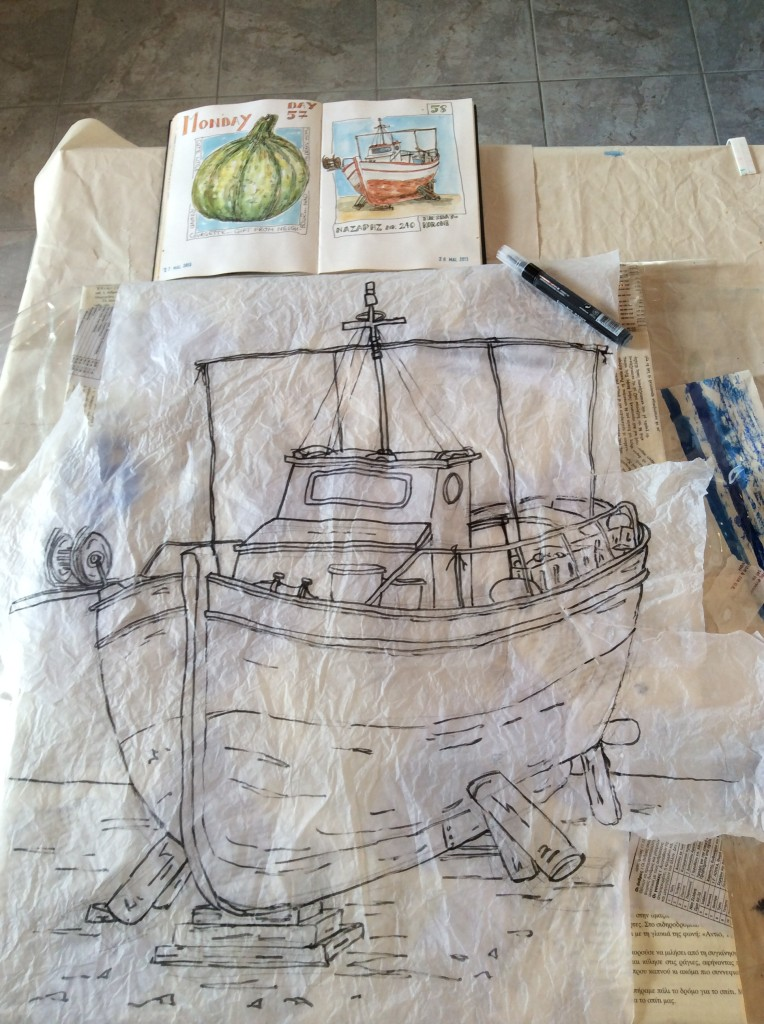 Koroni Fishing Boats Sketches