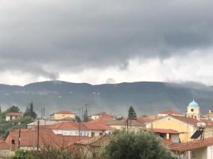Harakopio, winter, rain