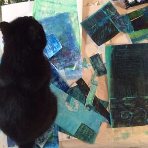 cat, greece, art