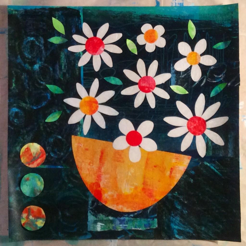 florals, flowers, collage, art