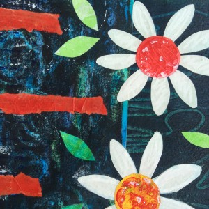 collage, daisies, art, Greece