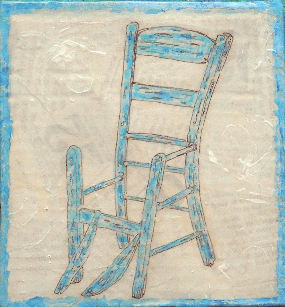 Greece, taverna, chair, drawing, painting