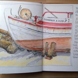 Fishing boat Koroni harbour