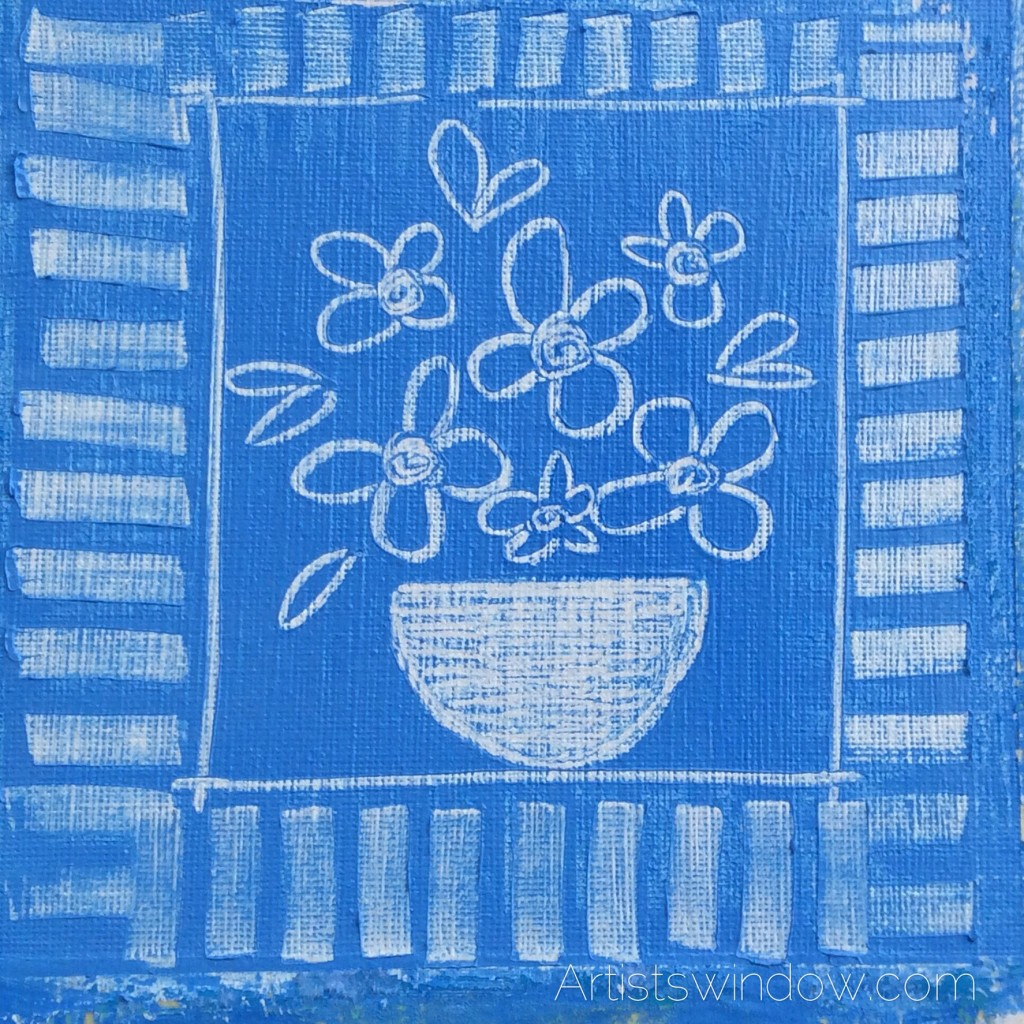 Blue floral art