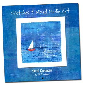 artists calendar blue sea sailboat greece square artwork watercolour illustration paintings
