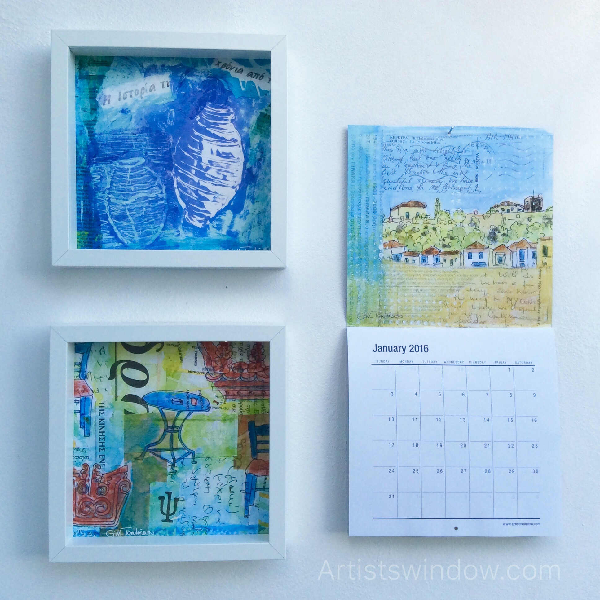 small paintings wall calendar