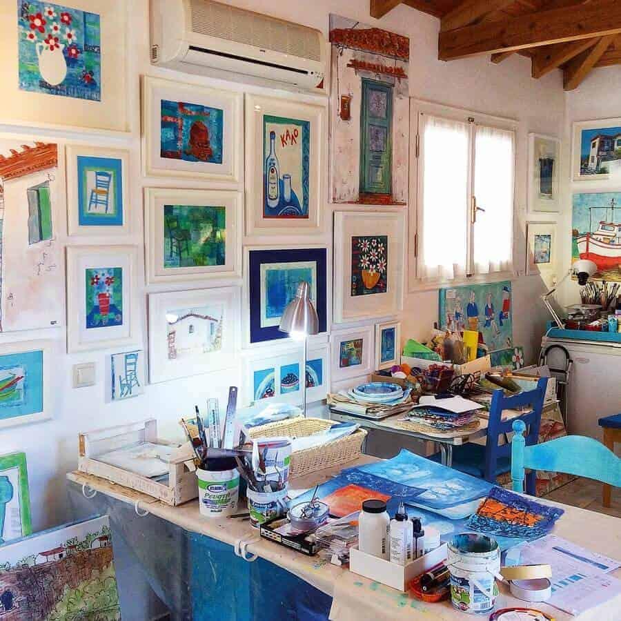 artists studio greece gilltomlinsonart
