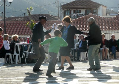 greek dancing traditional celebration easter
