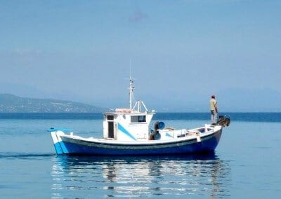 koroni fishing boat fisherman