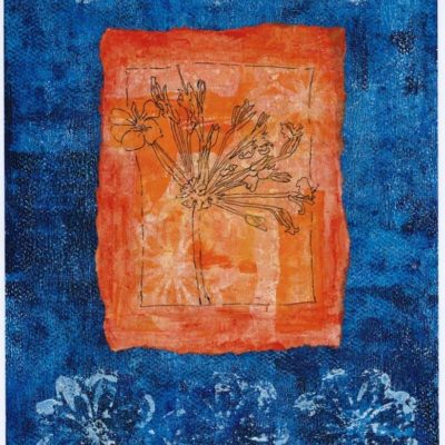 orange geranium original art