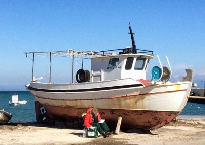 fishing boat greece koroni