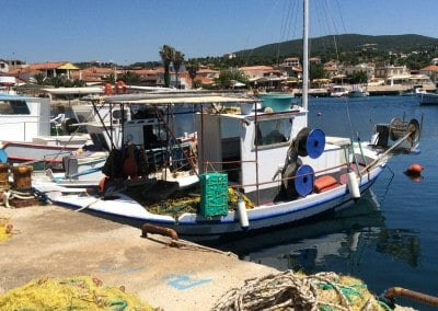 greek fishing boat finikounda greece
