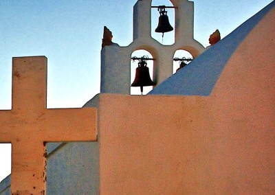 belltower Greek church Santorini