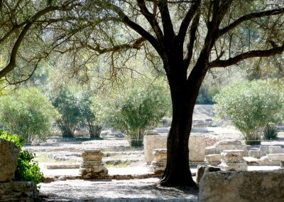 ancient olympia archeological site greece
