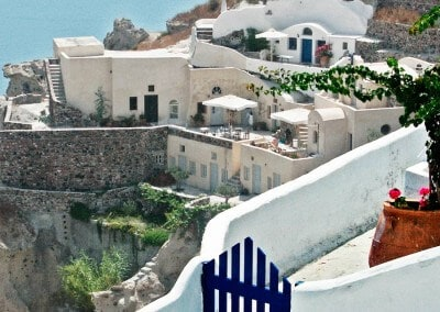 Santorini view architecture greece