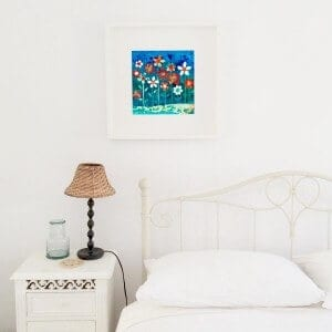 may flowers, art, flowers, gill tomlinson, collage, florals, bedroom art