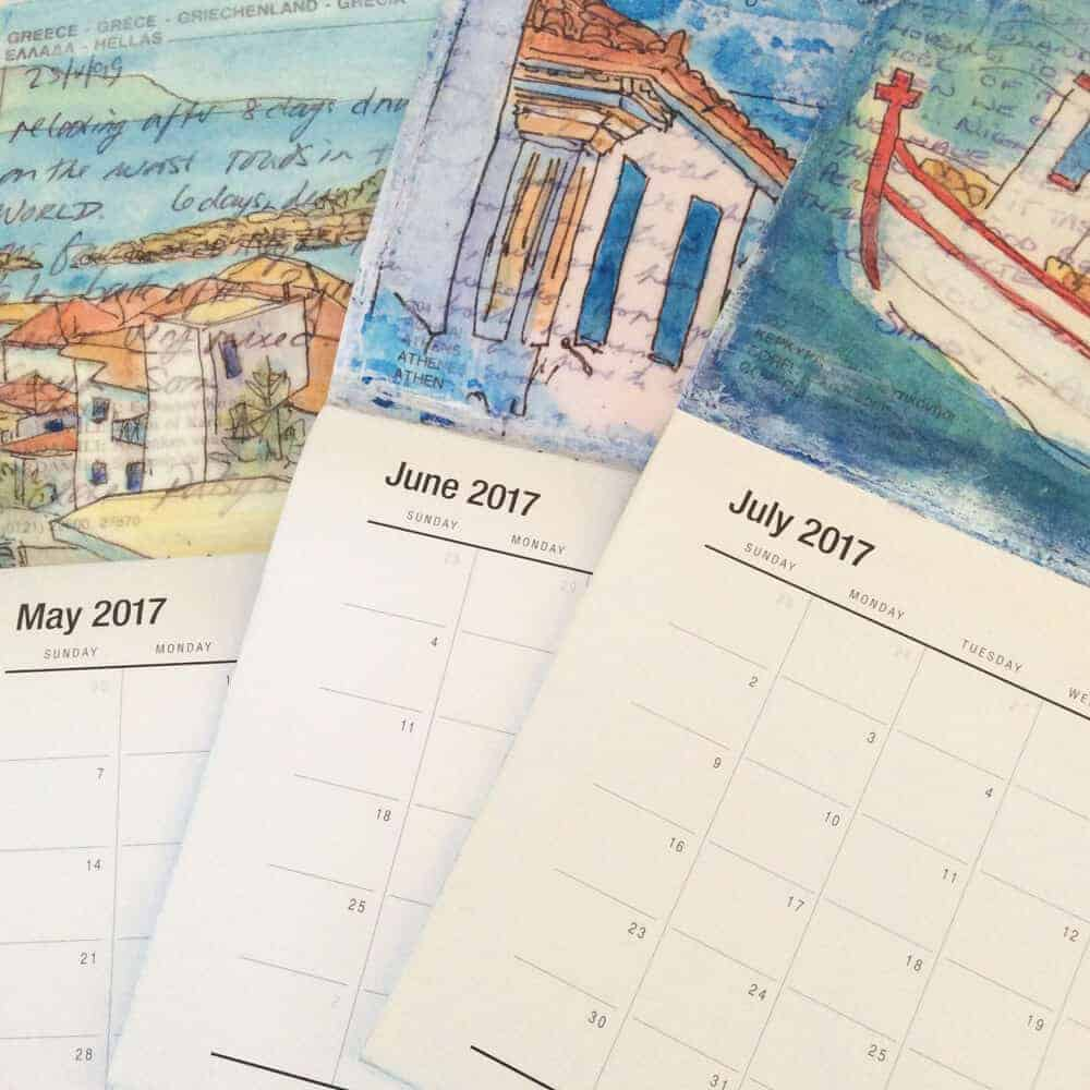 2017, calendars, art, gill-tomlinson, postcards, art