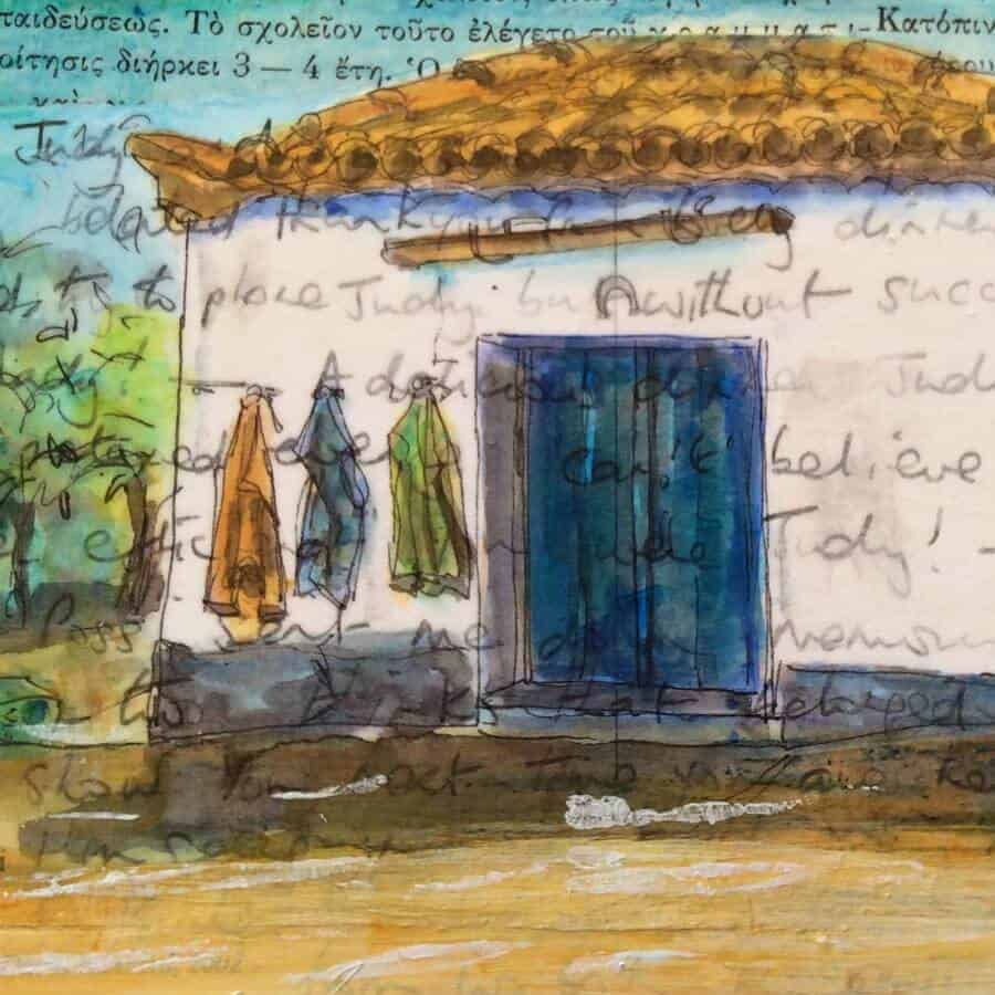 vintage,postcards,art,paintings,greece