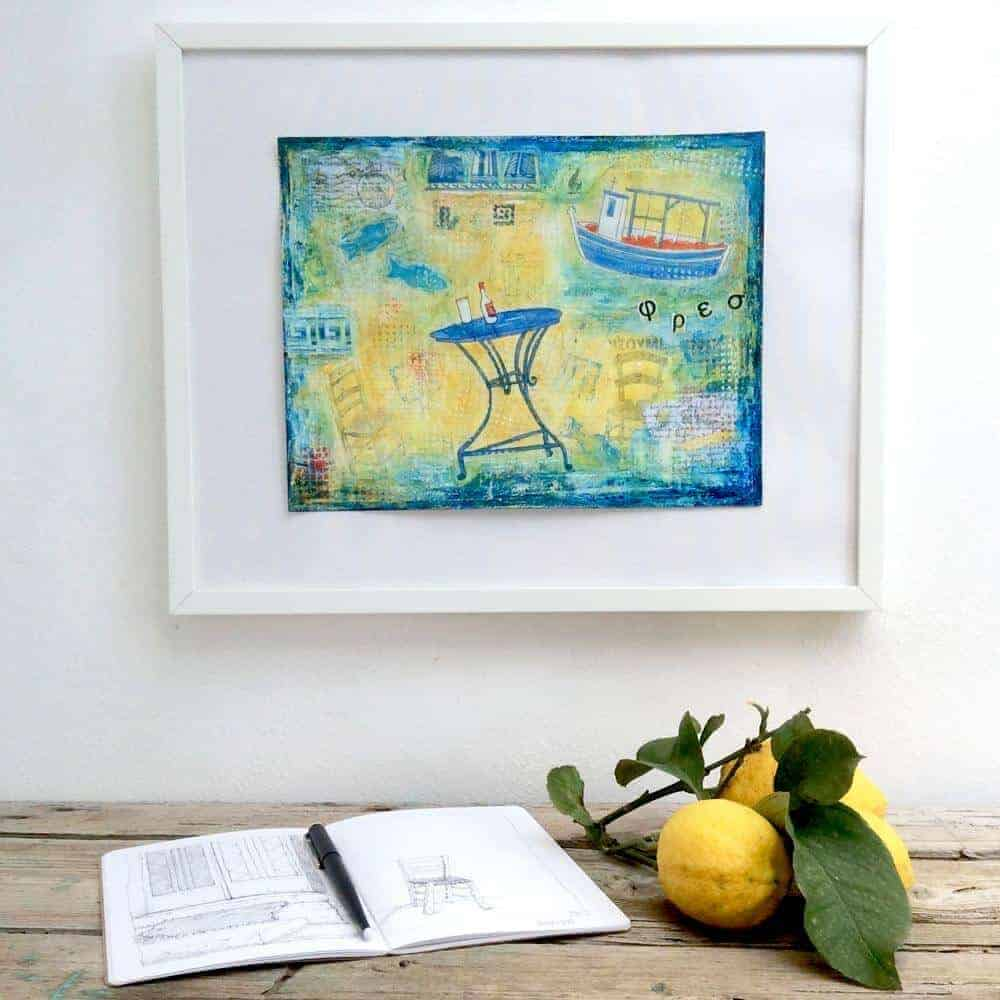 in our kitchen - original painting by Gill Tomlinson