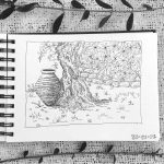 sketch,sketchbook,greece,greek,pottery,olivegrove,