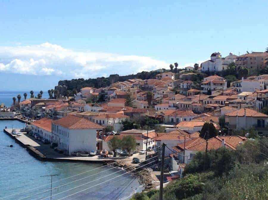 Koroni rooftops - Koroni a town in the south Peloponnese