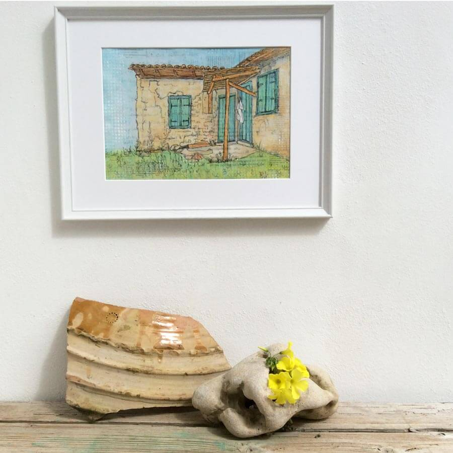 framed painting the white shirt by gill tomlinson