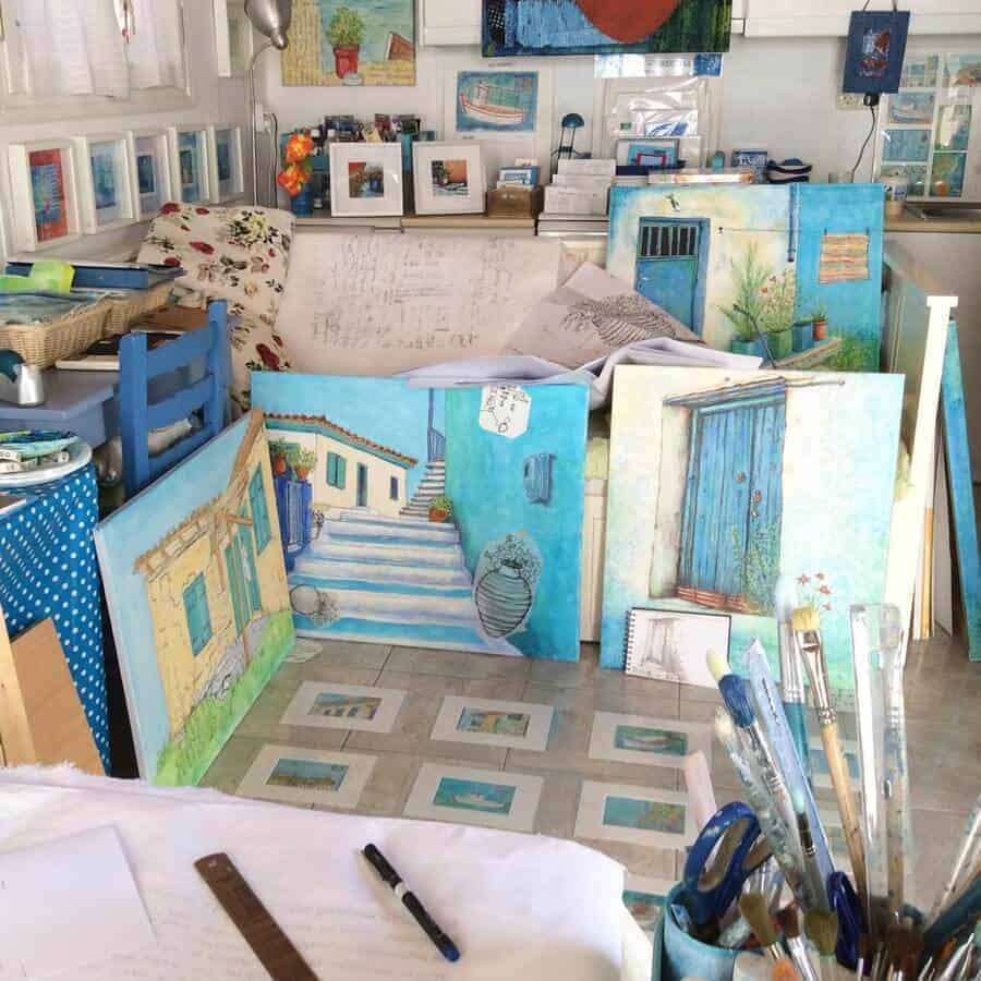art, studio, greece, gilltomlinson