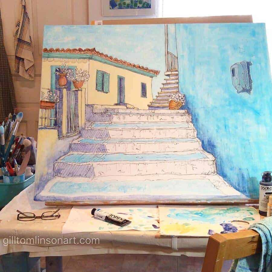 painting, greece, greek, art