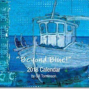 Beyond Blue art calendar cover image by Gill Tomlinson Art