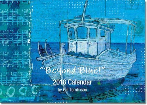 Beyond Blue art calendar cover image by Gill Tomlinson Art