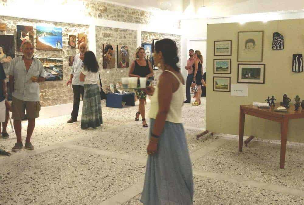 group art exhibition in Methoni, Greece