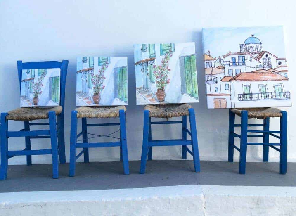 canvas art Greek art scenes