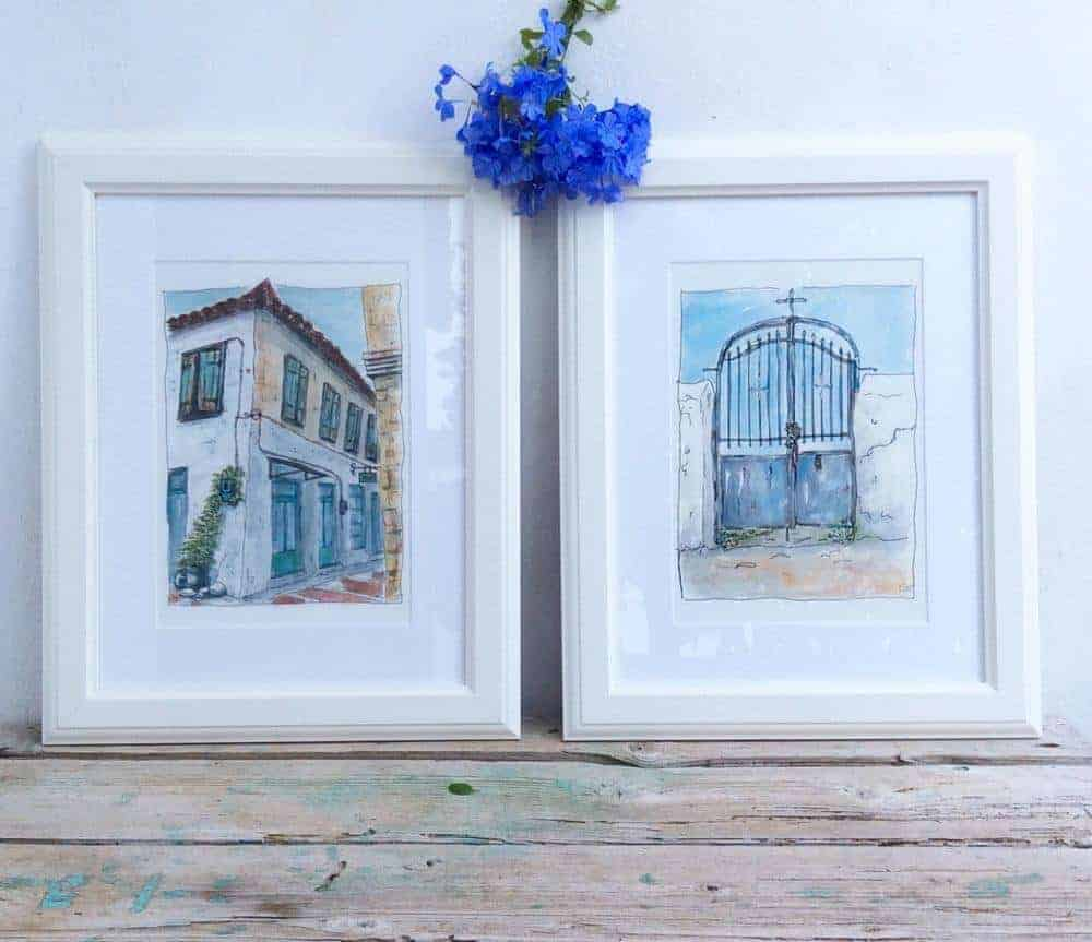 art prints by Gill Tomlinson Art Inspired by Greece