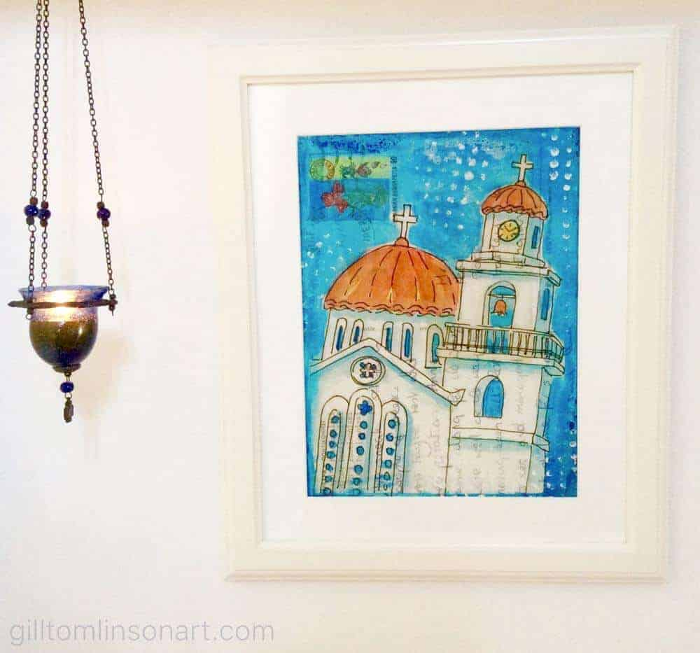 fine art print greek church vassilitsi greece