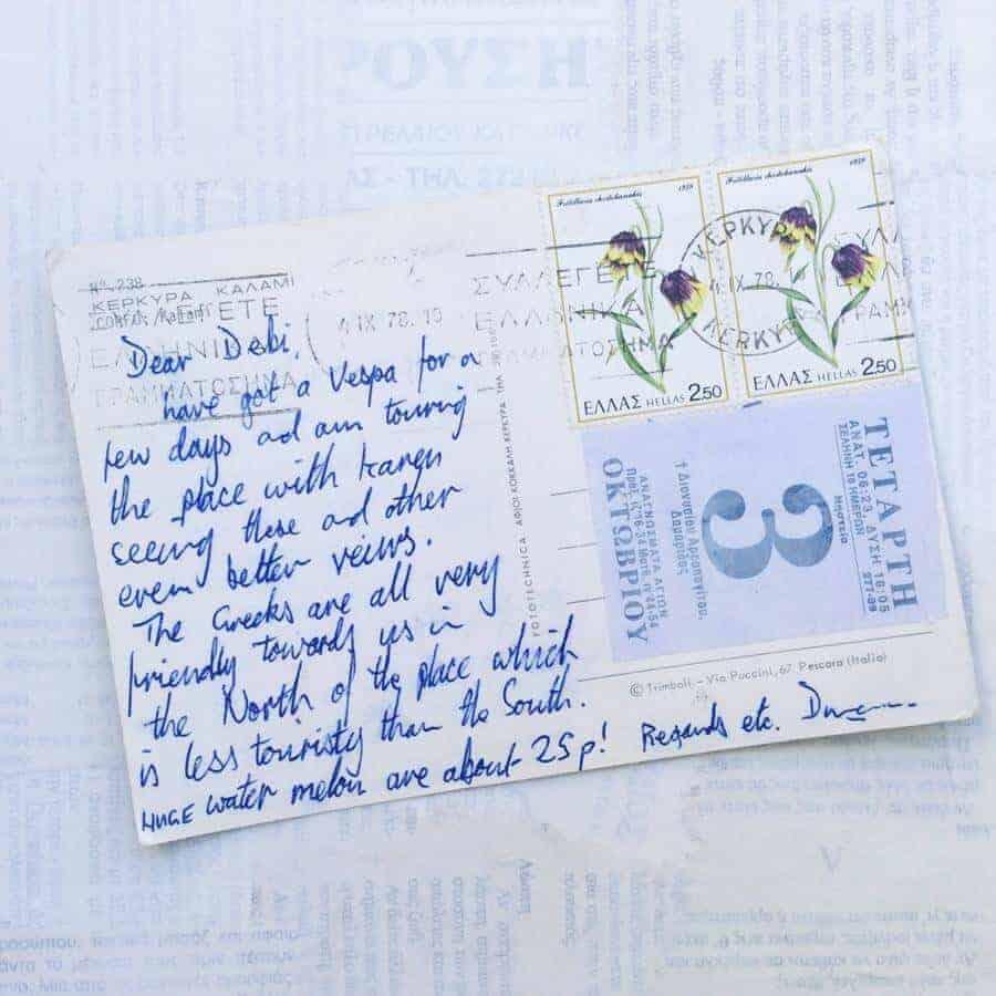 postcard, Greece, Corfu, Kerkyra, Originalart, vintage, collage, postcardsfromgreece