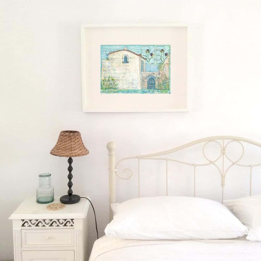 kerkyra, corfu, art, print, greek, monastery, painting
