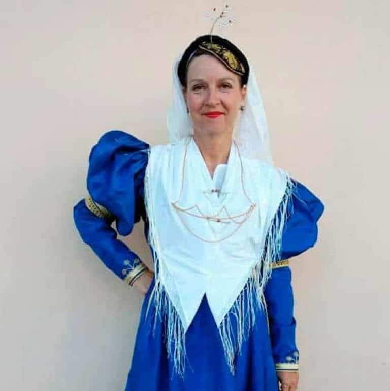 greek traditional costume from the island of lefkada