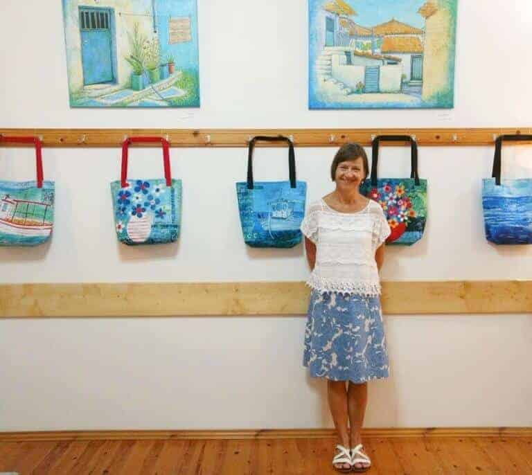 koroni, art, exhibition, greece, gill tomlinson art