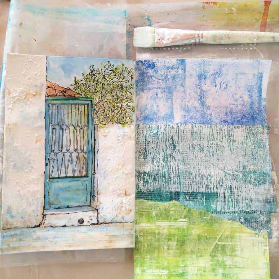 sketchbook pages by gill tomlinson art