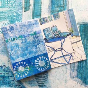 sketchbook images inspired by greece by gill tomlinson art