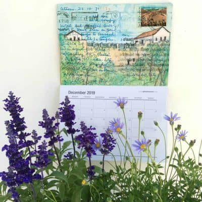 calendar 2019 art calendar greece, gill tomlinson art