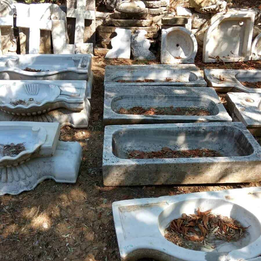 marble sinks, antiques, greek sinks