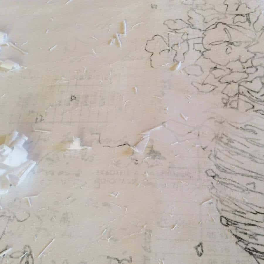 layers of greek text and drawings