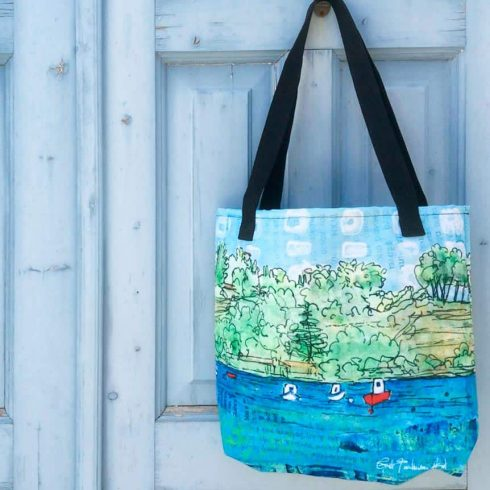 Three Boat Collage Tote