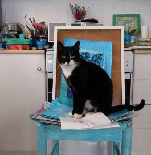 cat artists studio greece