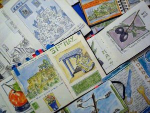 sketchbooks, watercolour, daily drawings, artists books